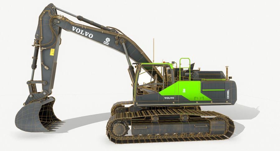 Hydraulic Excavator Volvo EC 380EL royalty-free 3d model - Preview no. 11