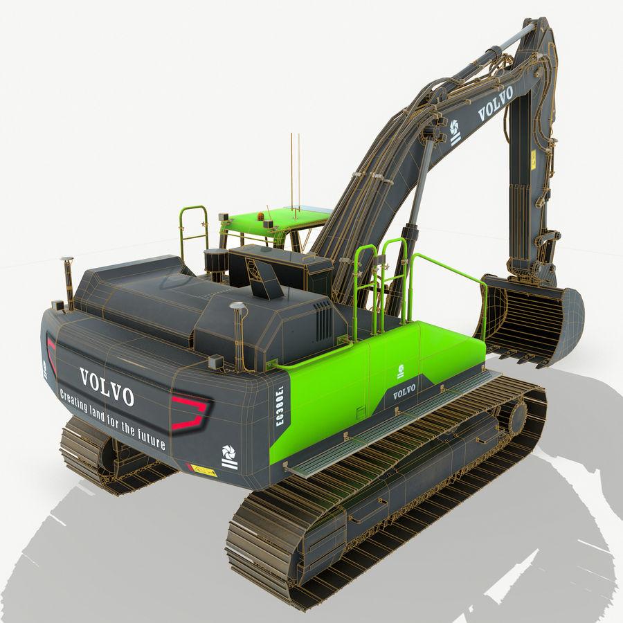 Hydraulic Excavator Volvo EC 380EL royalty-free 3d model - Preview no. 7