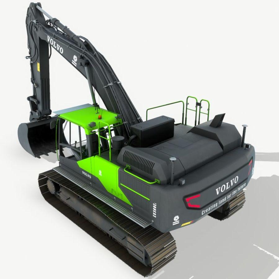 Hydraulic Excavator Volvo EC 380EL royalty-free 3d model - Preview no. 8