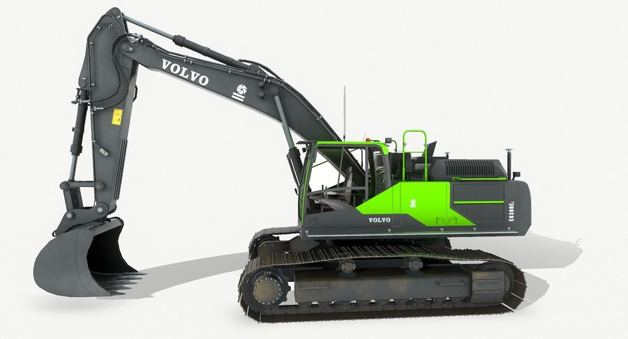 Hydraulic Excavator Volvo EC 380EL royalty-free 3d model - Preview no. 10