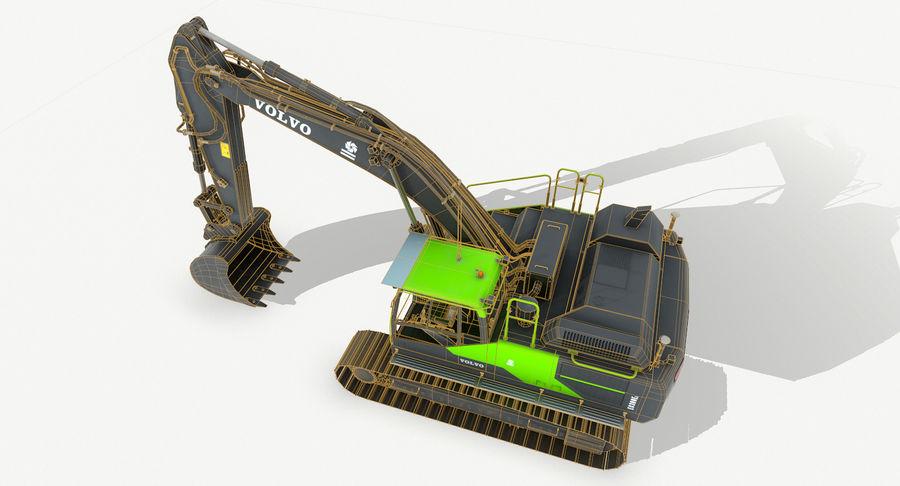 Hydraulic Excavator Volvo EC 380EL royalty-free 3d model - Preview no. 15