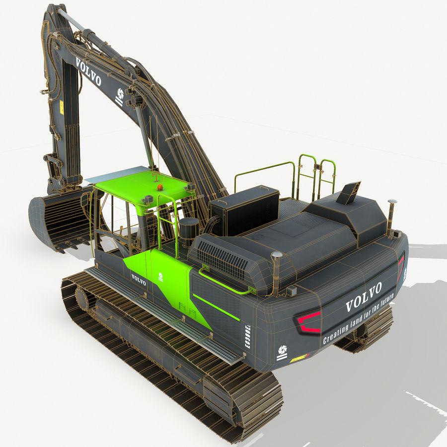 Hydraulic Excavator Volvo EC 380EL royalty-free 3d model - Preview no. 9