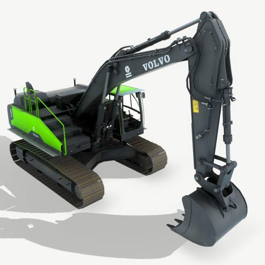 Hydraulic Excavator Volvo EC 380EL royalty-free 3d model - Preview no. 4