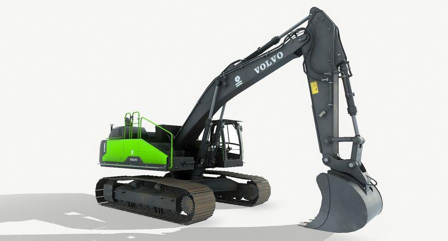 Hydraulic Excavator Volvo EC 380EL royalty-free 3d model - Preview no. 12