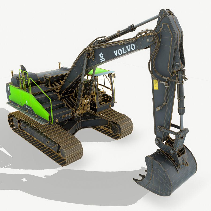 Hydraulic Excavator Volvo EC 380EL royalty-free 3d model - Preview no. 5
