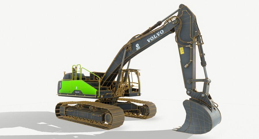 Hydraulic Excavator Volvo EC 380EL royalty-free 3d model - Preview no. 13