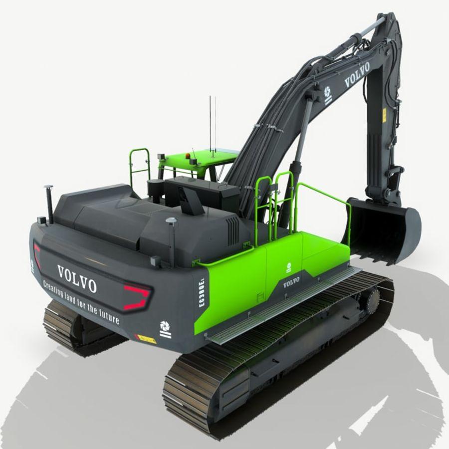 Hydraulic Excavator Volvo EC 380EL royalty-free 3d model - Preview no. 6