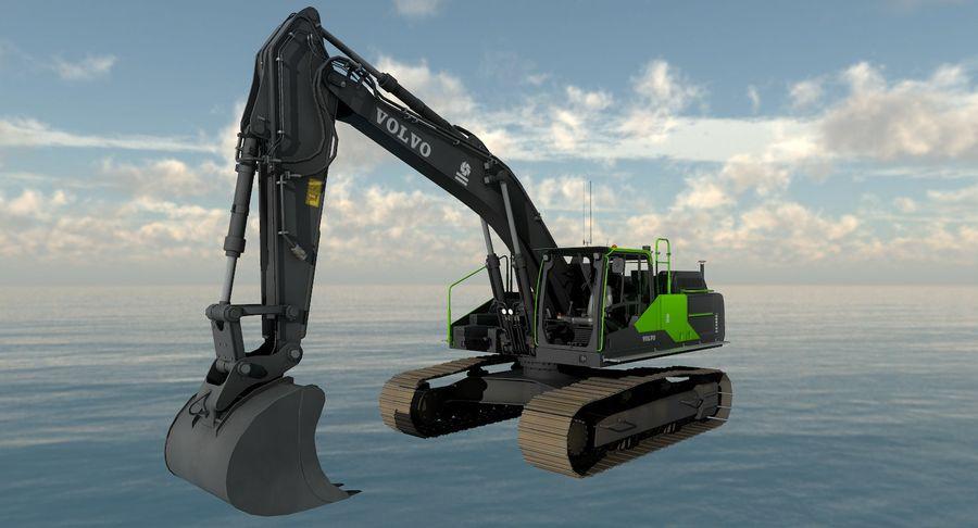 Hydraulic Excavator Volvo EC 380EL royalty-free 3d model - Preview no. 20