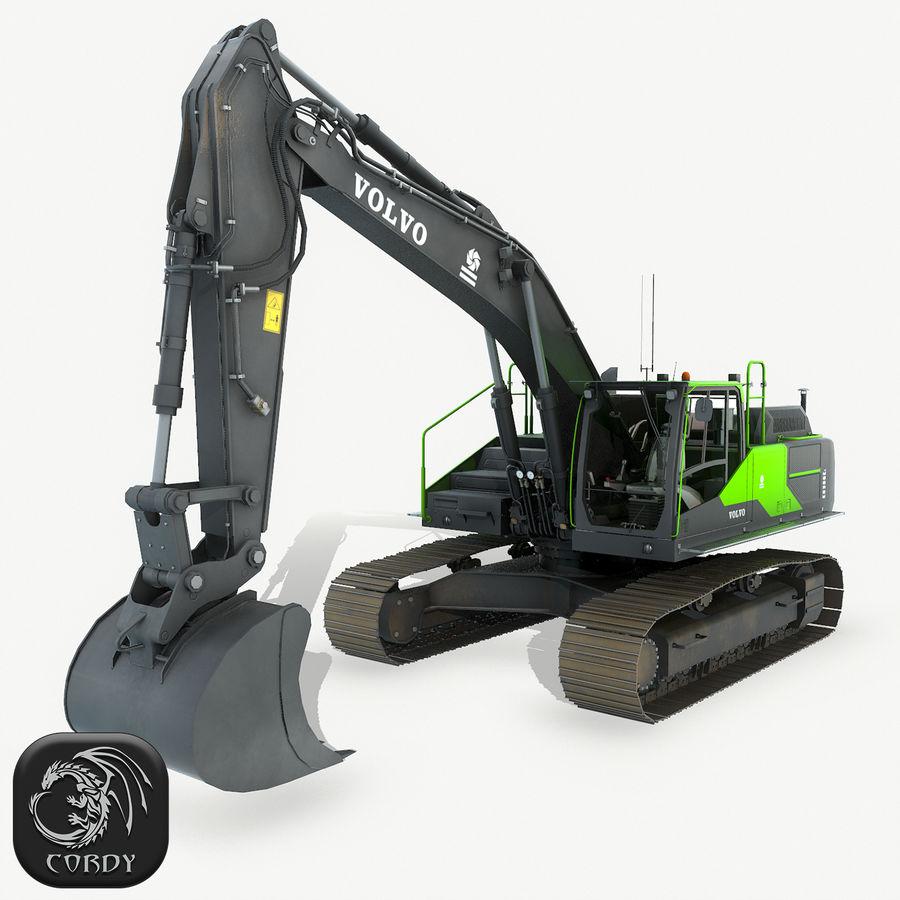 Hydraulic Excavator Volvo EC 380EL royalty-free 3d model - Preview no. 1