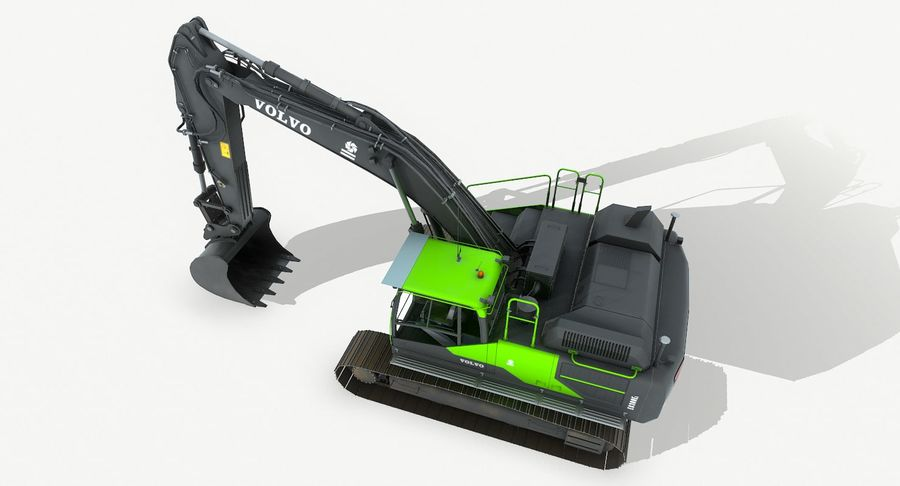 Hydraulic Excavator Volvo EC 380EL royalty-free 3d model - Preview no. 14