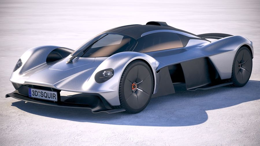 Aston Martin Valkyrie 2018 royalty-free 3d model - Preview no. 1