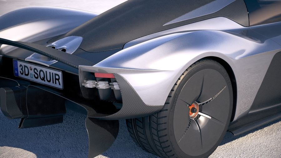 Aston Martin Valkyrie 2018 royalty-free 3d model - Preview no. 4