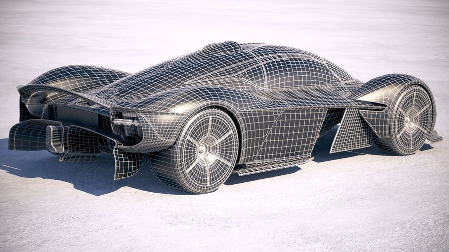 Aston Martin Valkyrie 2018 royalty-free 3d model - Preview no. 21