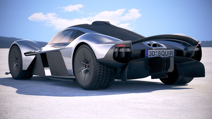 Aston Martin Valkyrie 2018 royalty-free 3d model - Preview no. 14