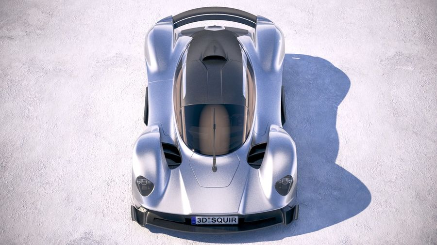 Aston Martin Valkyrie 2018 royalty-free 3d model - Preview no. 9
