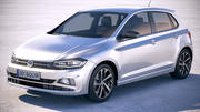 Volkswagen Polo 5-door 2018 3d model