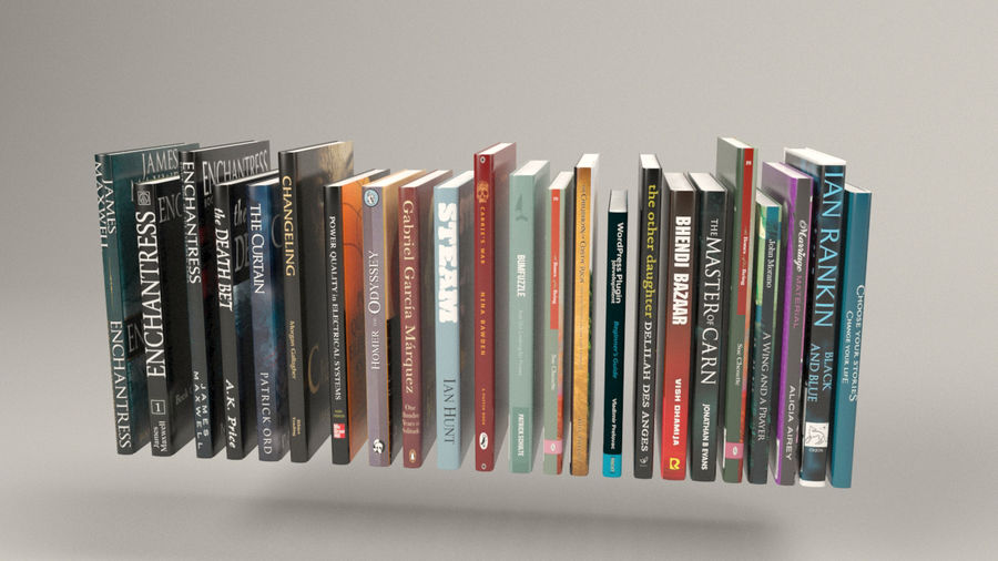 Boekencollectie royalty-free 3d model - Preview no. 4