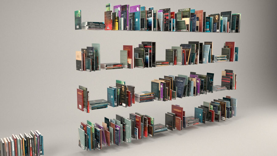Boekencollectie royalty-free 3d model - Preview no. 3