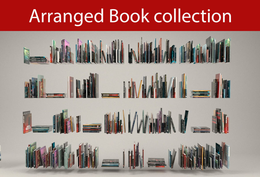 Boekencollectie royalty-free 3d model - Preview no. 1