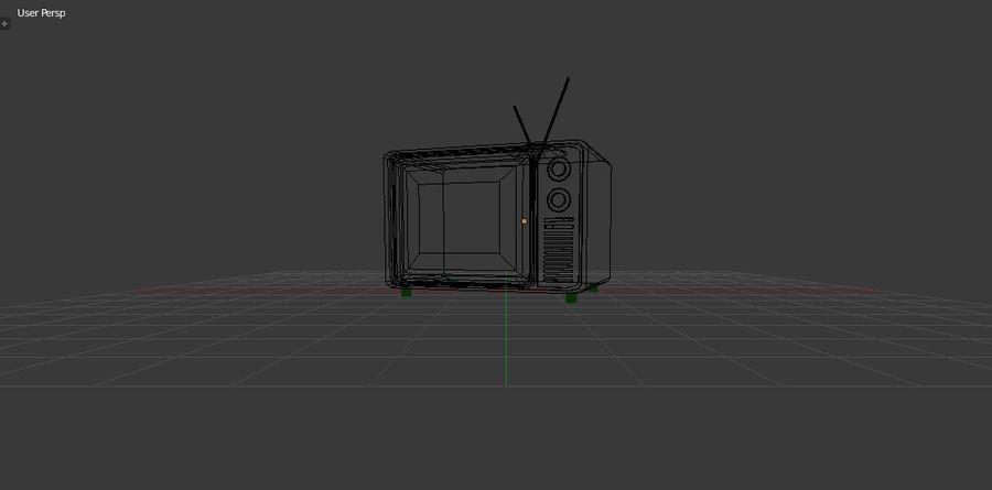 レトロTV 3Dモデル royalty-free 3d model - Preview no. 7