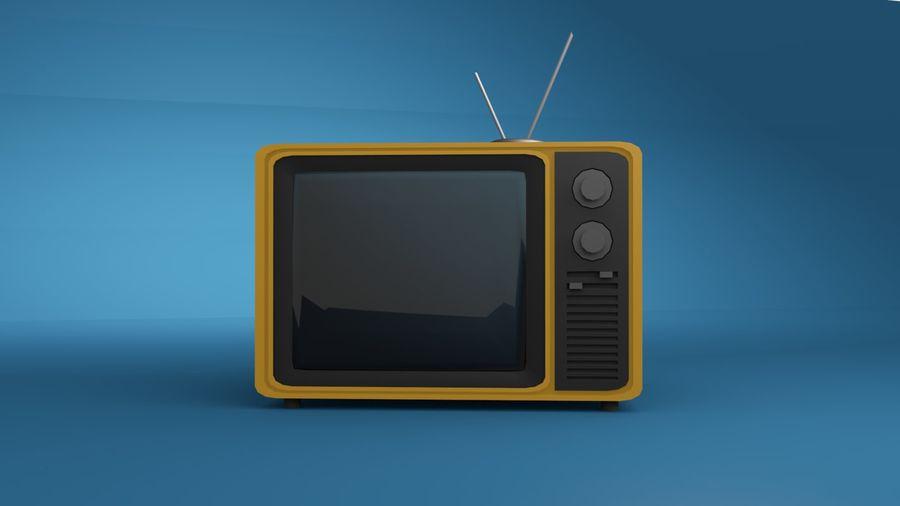レトロTV 3Dモデル royalty-free 3d model - Preview no. 2