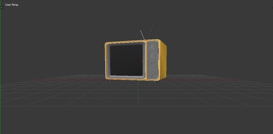 レトロTV 3Dモデル royalty-free 3d model - Preview no. 6