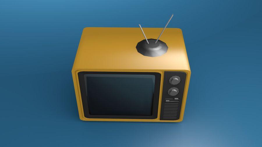 レトロTV 3Dモデル royalty-free 3d model - Preview no. 4