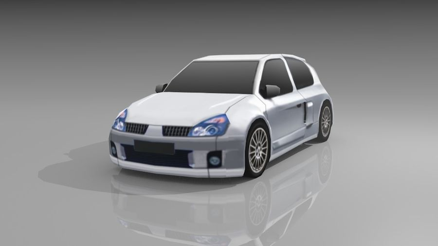 Renault Clio Sport royalty-free 3d model - Preview no. 2