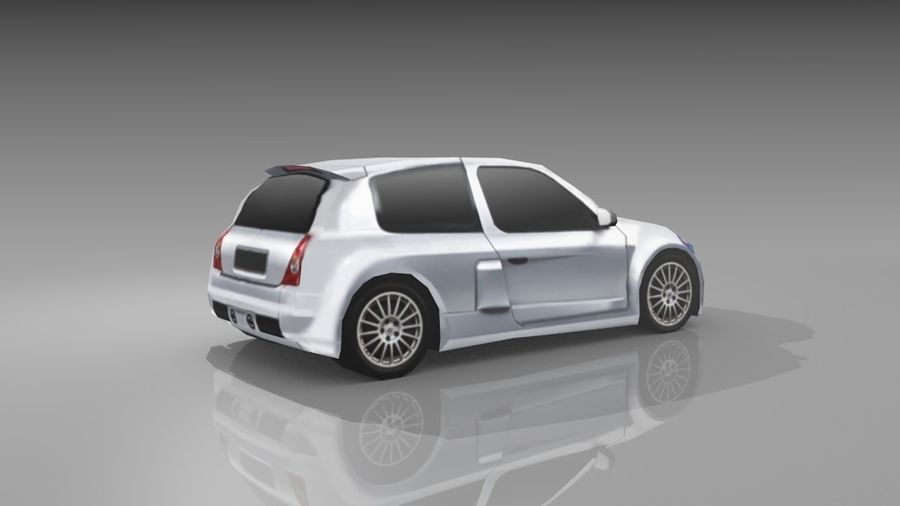 Renault Clio Sport royalty-free 3d model - Preview no. 6