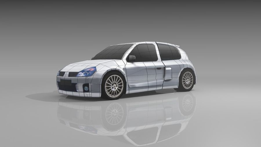 Renault Clio Sport royalty-free 3d model - Preview no. 11