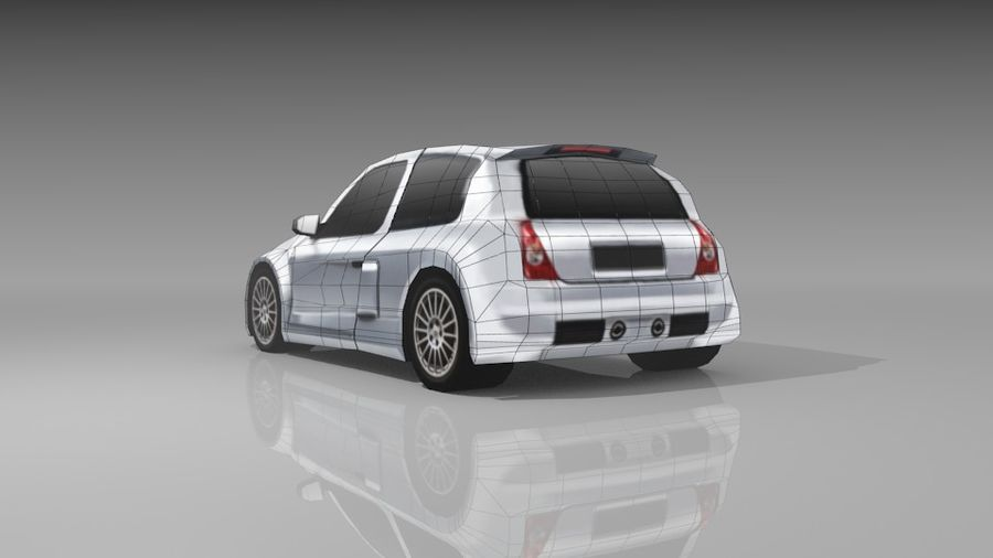 Renault Clio Sport royalty-free 3d model - Preview no. 9
