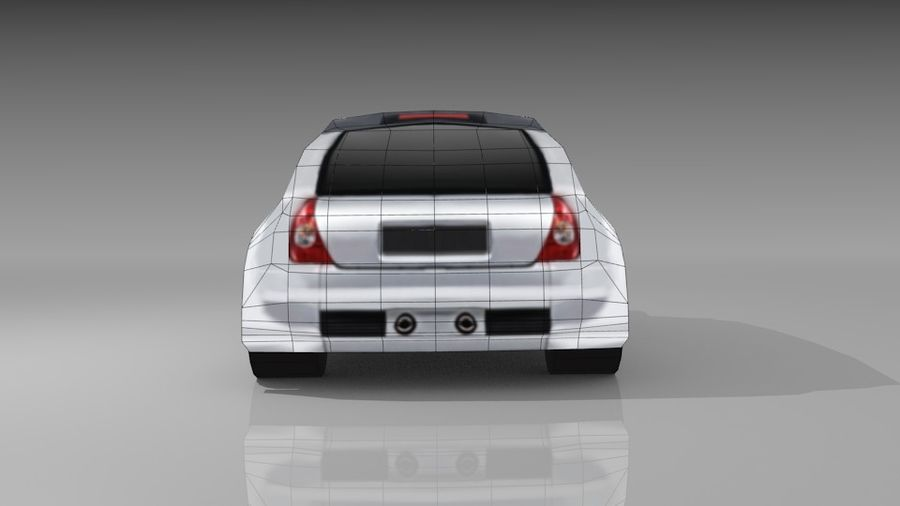 Renault Clio Sport royalty-free 3d model - Preview no. 8