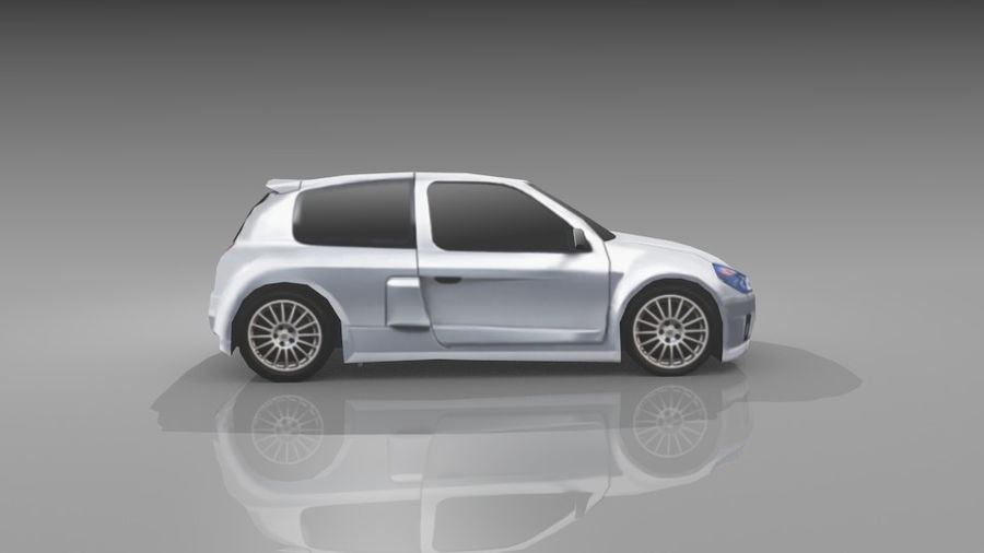 Renault Clio Sport royalty-free 3d model - Preview no. 5