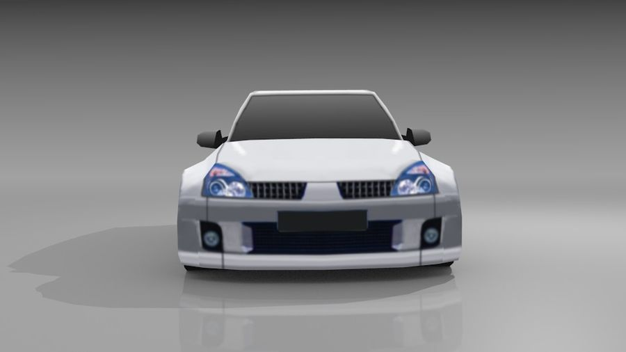 Renault Clio Sport royalty-free 3d model - Preview no. 3