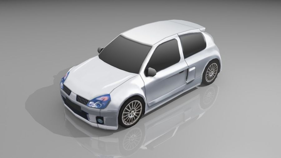 Renault Clio Sport royalty-free 3d model - Preview no. 1