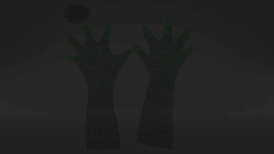 Réaliste réaliste à la main royalty-free 3d model - Preview no. 13