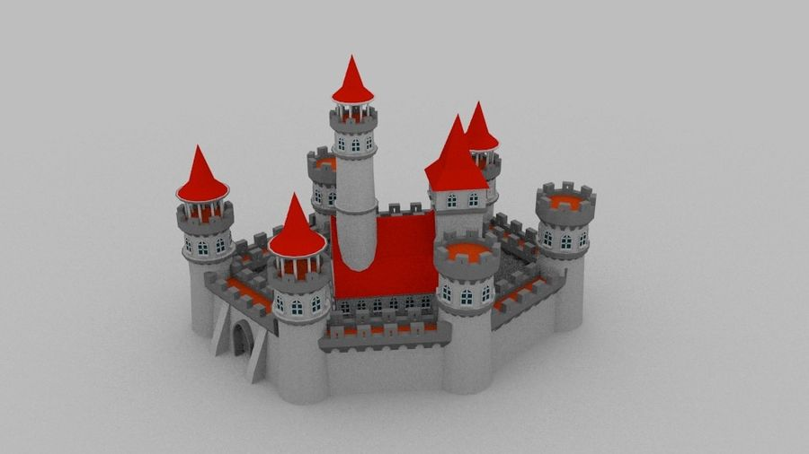 Castle royalty-free 3d model - Preview no. 1