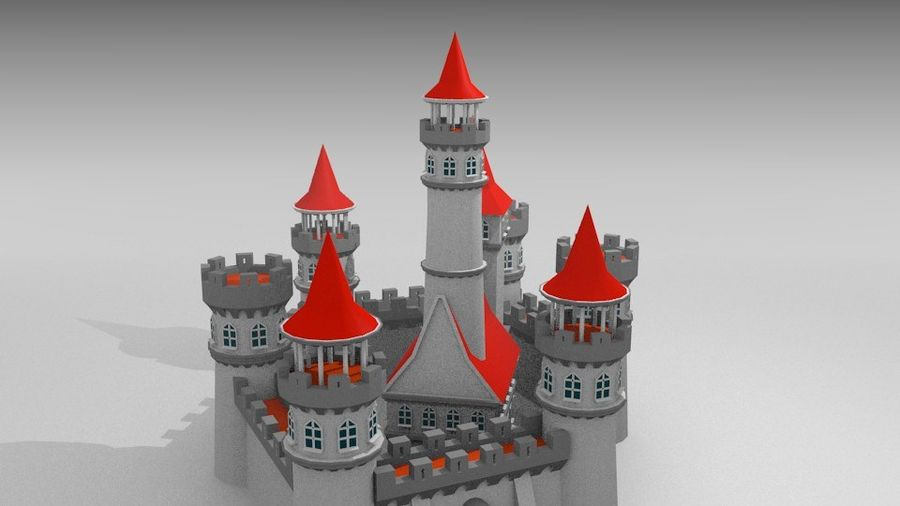 Castle royalty-free 3d model - Preview no. 5