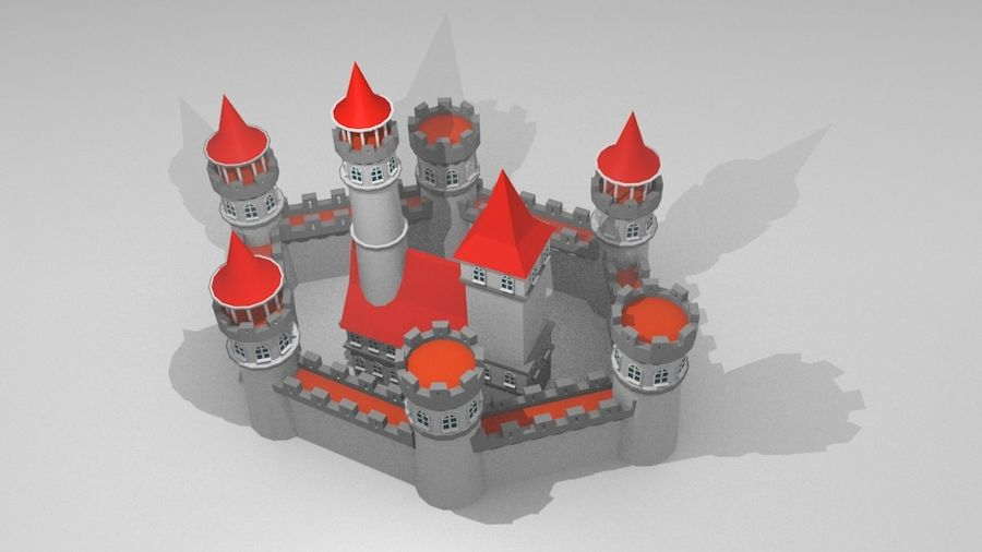 Castle royalty-free 3d model - Preview no. 8