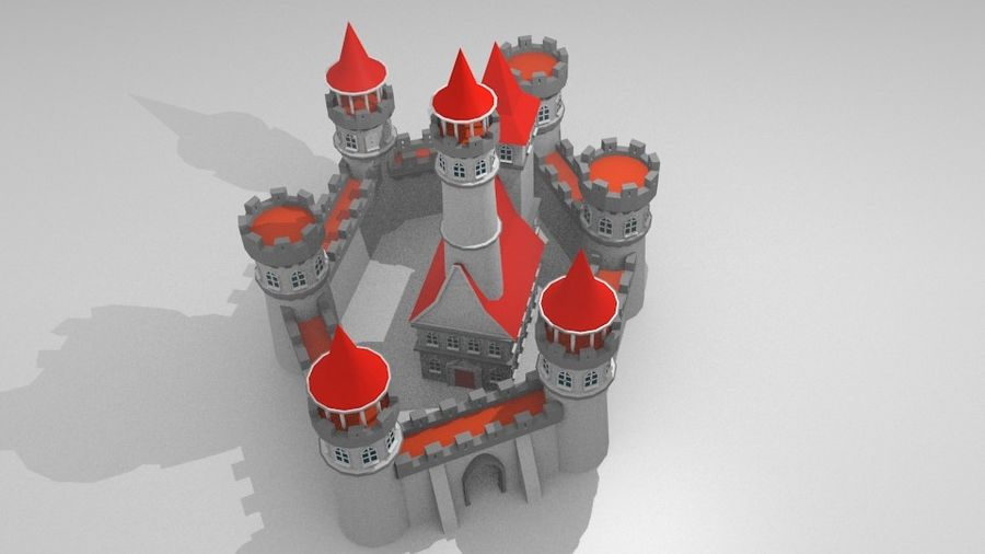 Castle royalty-free 3d model - Preview no. 6