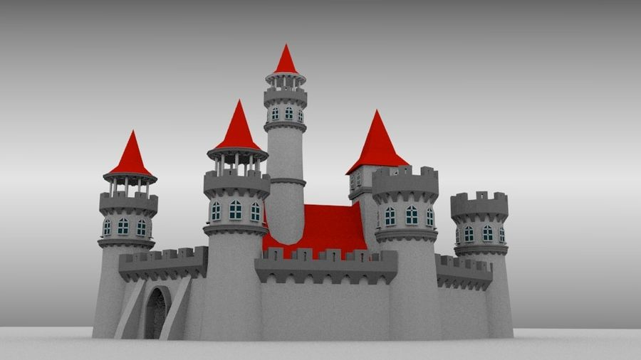 Castle royalty-free 3d model - Preview no. 2