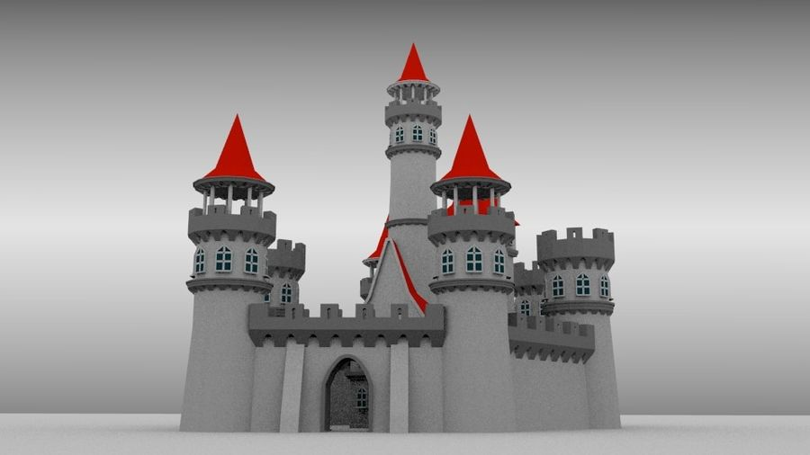 Castle royalty-free 3d model - Preview no. 3
