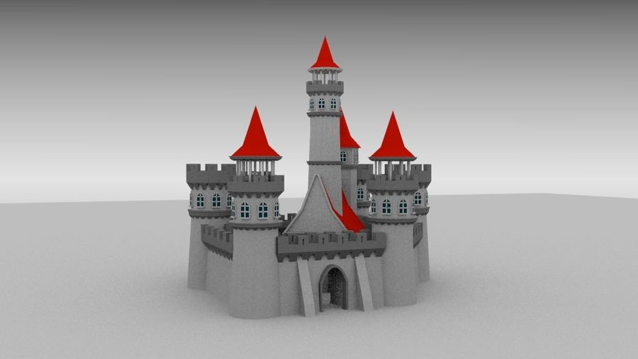 Castle royalty-free 3d model - Preview no. 4