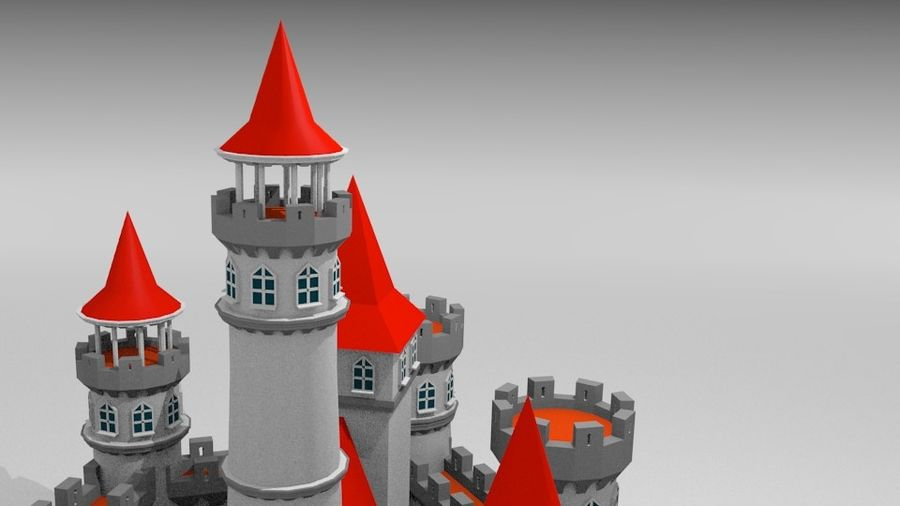 Castle royalty-free 3d model - Preview no. 10