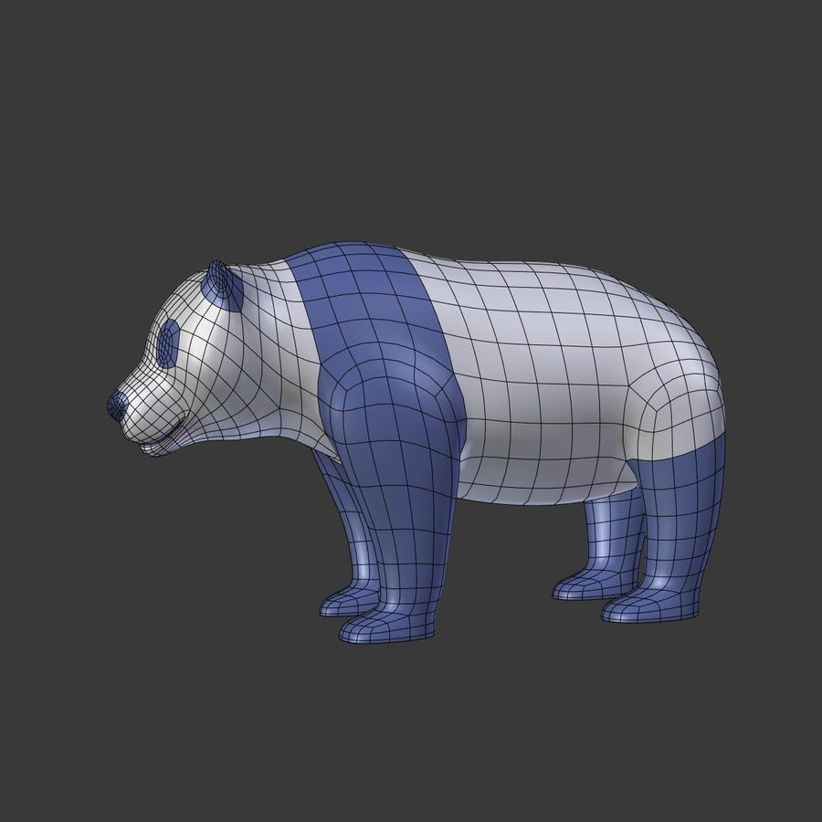 Bear_Panda_LOW POLY royalty-free 3d model - Preview no. 6
