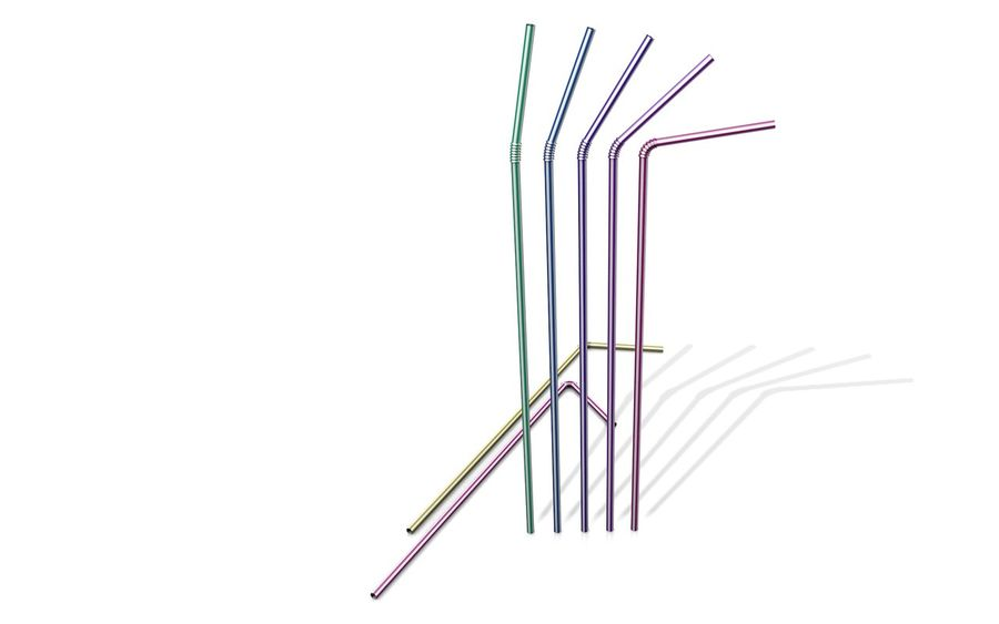 Drinking Straw royalty-free 3d model - Preview no. 4