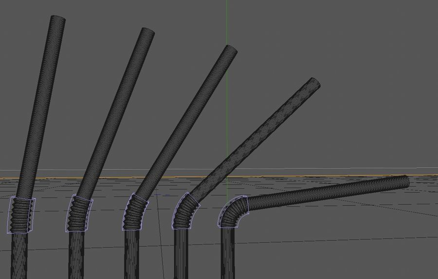 Drinking Straw royalty-free 3d model - Preview no. 5