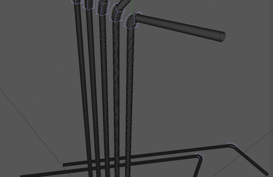 Drinking Straw royalty-free 3d model - Preview no. 6