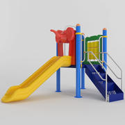 CHILDREN SLIDE PLAYGROUND 3d model