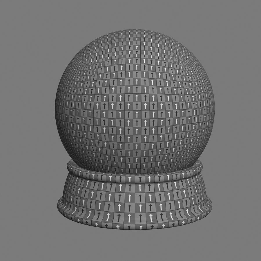 snow globe royalty-free 3d model - Preview no. 7